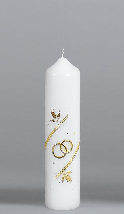 Goldene-Hochzeitskerze, 918, 215x50, ---Abverkauf---