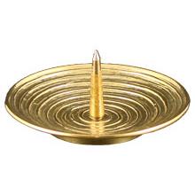 Rillen-Teller, Ø 10 cm, gr. Dorn, gold