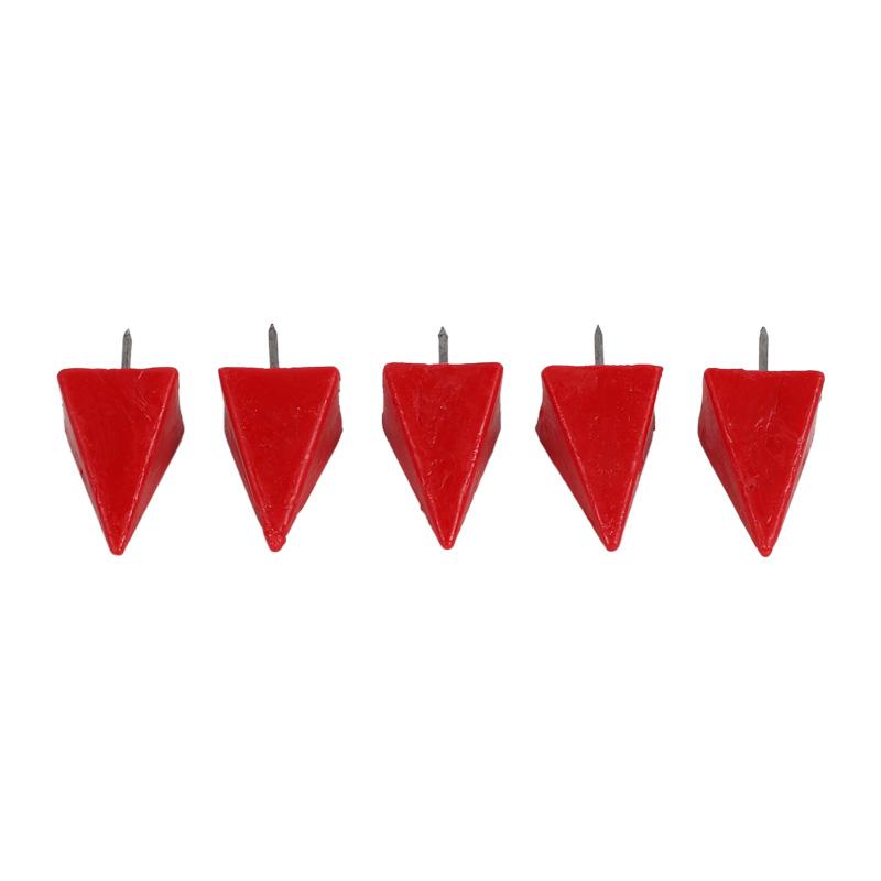5 Wachsnägel, klein, rot, ~17x17x27mm