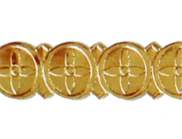 Wachsauflage, Borte, BG01, gold