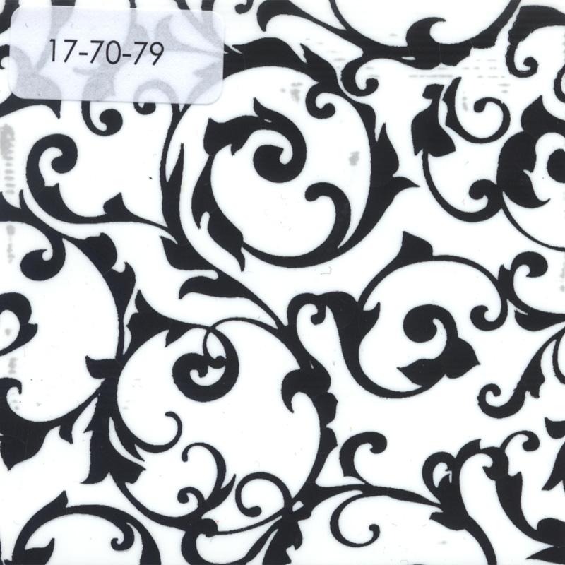 Verzierwachsplatte, Nr. 17-70-79, weiß-schwarz, Geprägt, 200 x 100 x 0,5 mm