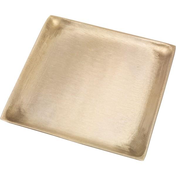 Kerzenteller, quadrat, 11 x 11 cm, gold matt