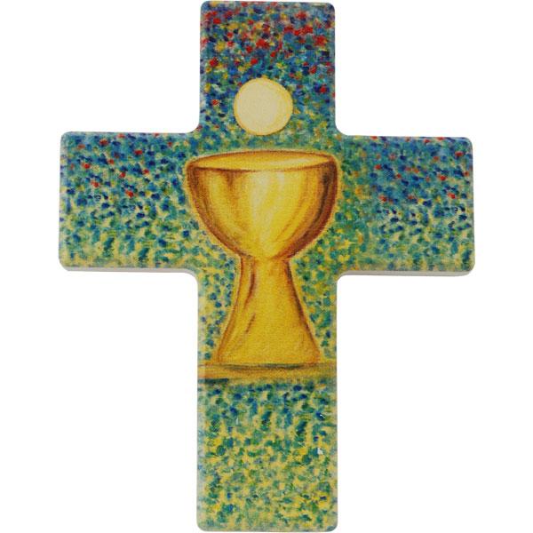 Holzkreuz, 810120, Kelch, 9x7cm, Holz bedruckt