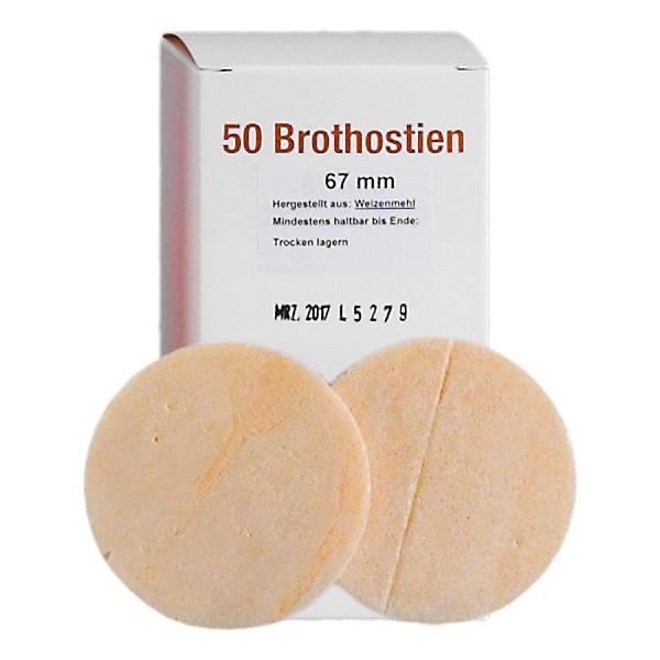 50 Priesterhostien, Brot Ø67
