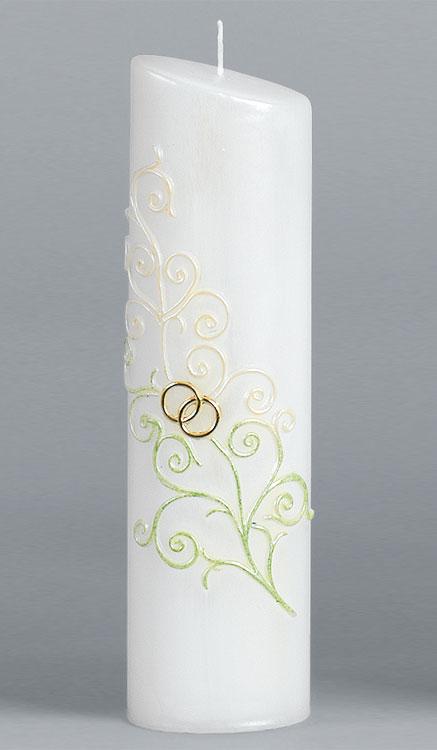 Hochzeitskerze, 2248, Oval 240x65x45, gold, ---Abverkauf---