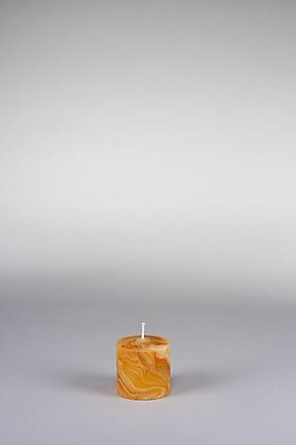 Stumpenkerze, 6 x 6 cm, 100% Bienenwachs, handgeknetet