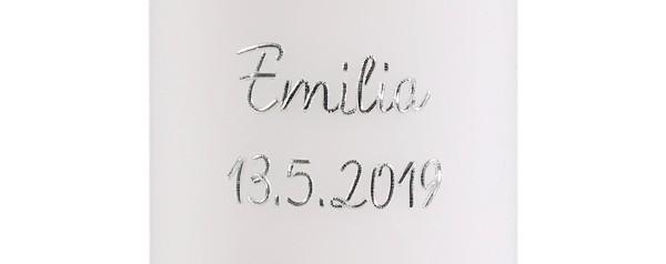 Namen und/oder Datum, Elegant, silber, pauschal je Kerze