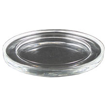 Glasteller, glatt, Ø 110 mm, für Kerzen bis 7 cm Durchmesser