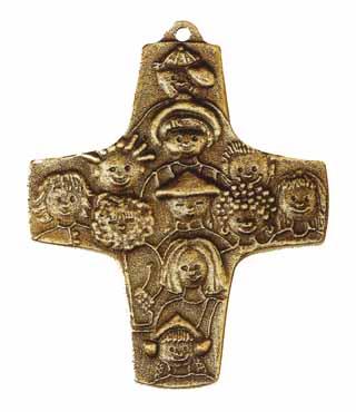 Bronzekreuz, 148, Kinder, h=9,5cm