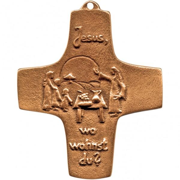 Bronzekreuz, 189, Jesus wo wohnst Du?, h=9,5cm