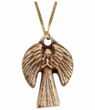 Umhängekreuz, UK4, mit Ring, ohne Kette, 3,2cm, (Engel)