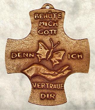 Bronzekreuz, 175, Behüte mich Gott, denn..., h=9,5cm