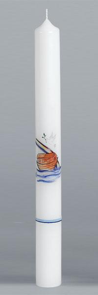 Kommunionkerze, 1979, 400x40, weiß, Fotodruck, ---Abverkauf---