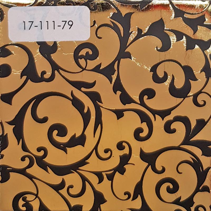 Verzierwachsplatte, Nr. 17-111-79, glanzg.-schwarz, Geprägt, 200 x 100 x 0,5 mm