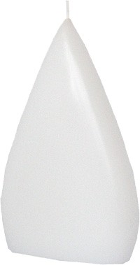 Form 14104, Flachtropfen, 170 x 110 x 45 mm, weiß getaucht