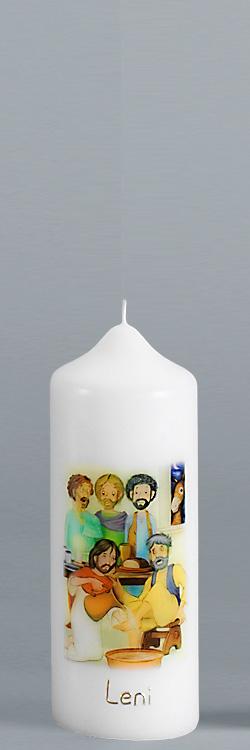 Patenkerze, P121, Eine Liebe, die sich gewaschen hat, Größe/Farbe wählbar