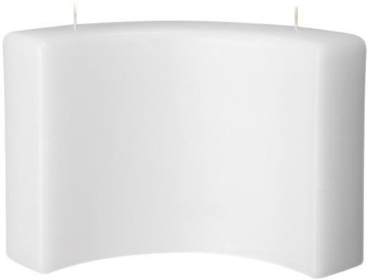 Form 13526, Bogen m. 2 Dochten, 150 x 240 x 45 mm, weiß getaucht