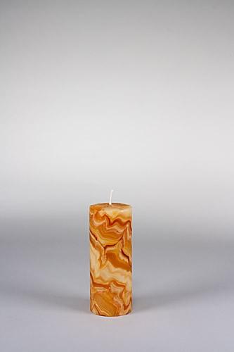 Stumpenkerze, 15 x 6 cm, 100% Bienenwachs, handgeknetet