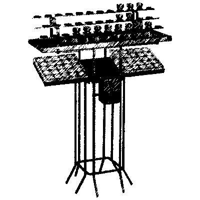 Opferlichtetisch, 46 Brennstellen, HxBxT=100x100x30cm, mit Opferstock