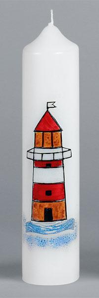 Kommuniontischkerze, 2833, 265x60, weiß, Leuchtturm, ---Abverkauf---