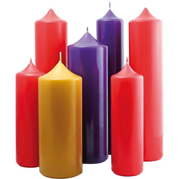 Adventskerze, 300 x 100 mm, farben wählbar