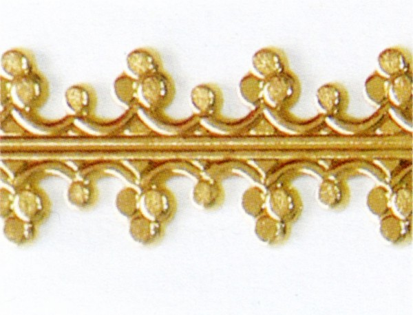 Wachsauflage, Borte, BG02, gold