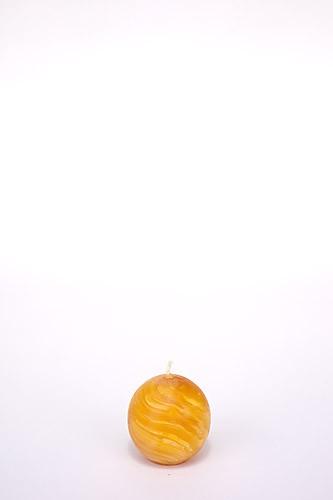 Kugelkerze, Ø 8 cm, 100% Bienenwachs, handgeknetet
