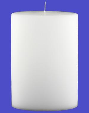 Formkerze Nr. 84, Oval, 200x135x70, weiß