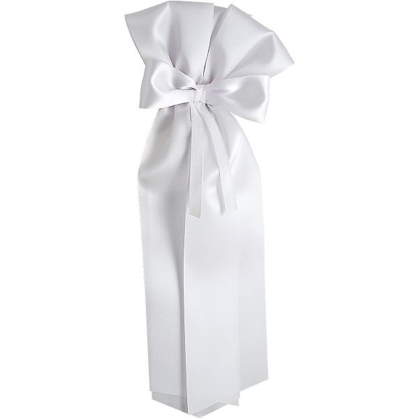 Langschleife, weiß, 27cm, Nr. 12448