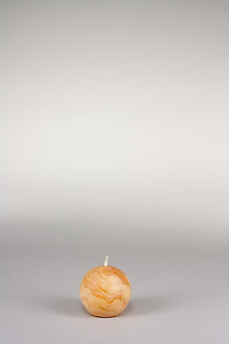 Kugelkerze, Ø 7 cm, 100% Bienenwachs, handgeknetet