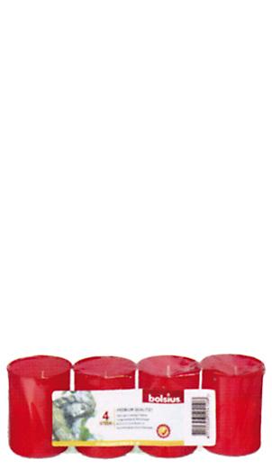 4 Grablichter, Stundenbrenner Nr. 36, rot