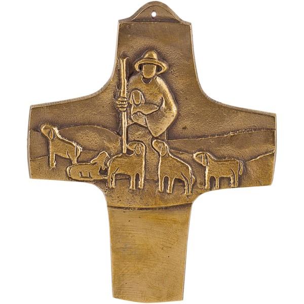 Bronzekreuz 143709, Höhe=11cm, Der Herr ist mein Hirte