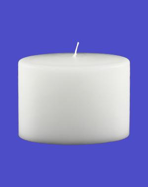 Formkerze Nr. 82, Oval, 100x135x70, weiß / Abverkauf