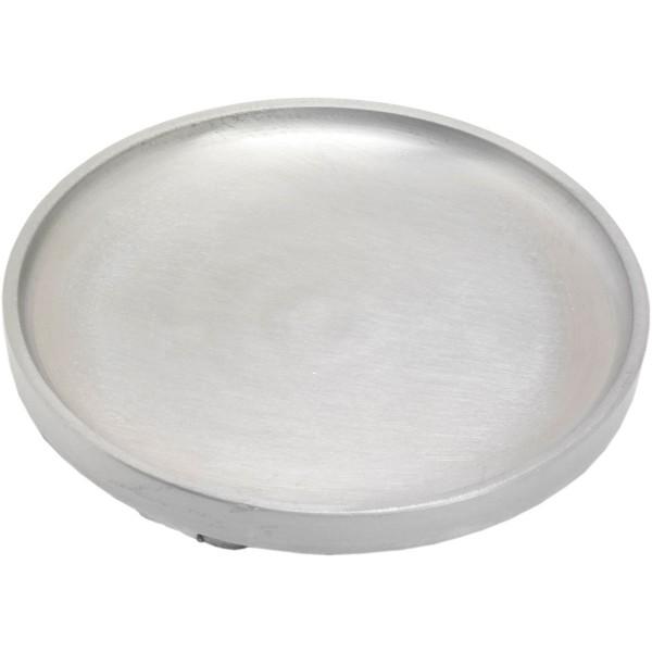 Kerzenteller, rund groß, Ø = 12 cm, silber matt