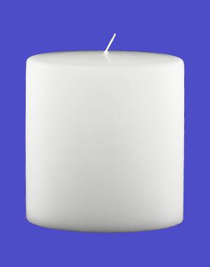 Formkerze Nr. 83, Oval, 150x135x70, weiß