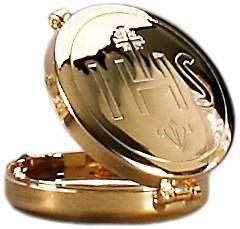 Versehpatene, vergoldet, für 5 Brothostien, Ø5,5cm