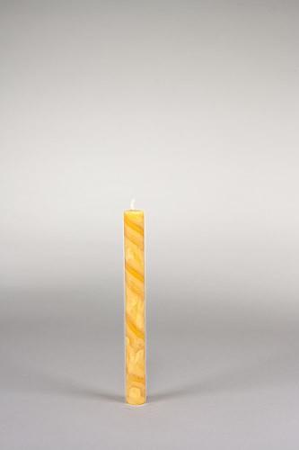 Stabkerze, 20 x 2,2 cm, 100% Bienenwachs, handgeknetet