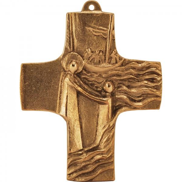 Bronzekreuz, Vertrau mir, ich bin da!, Sinkender Petrus, 9x7cm