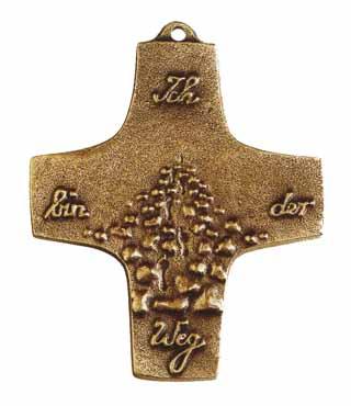 Bronzekreuz, 151, Ich bin der Weg, h=9,5cm