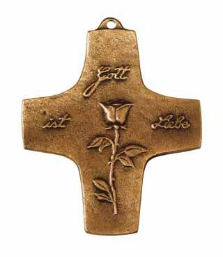 Bronzekreuz, 153, Gott ist Liebe, h=9cm