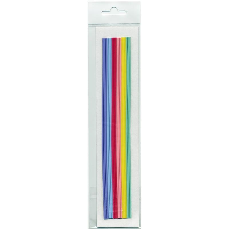 18 Rundstreifen, SB Pack, Regenbogen, Pastellfarben, 220x2mm