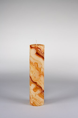 Stumpenkerze, 25 x 6 cm, 100% Bienenwachs, handgeknetet