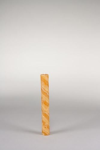 Stabkerze, 20 x 2,5 cm, 100% Bienenwachs, handgeknetet