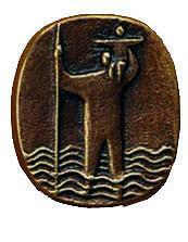 Christophorusplakette CH6, bronze, Durchm. ca. 4,5cm