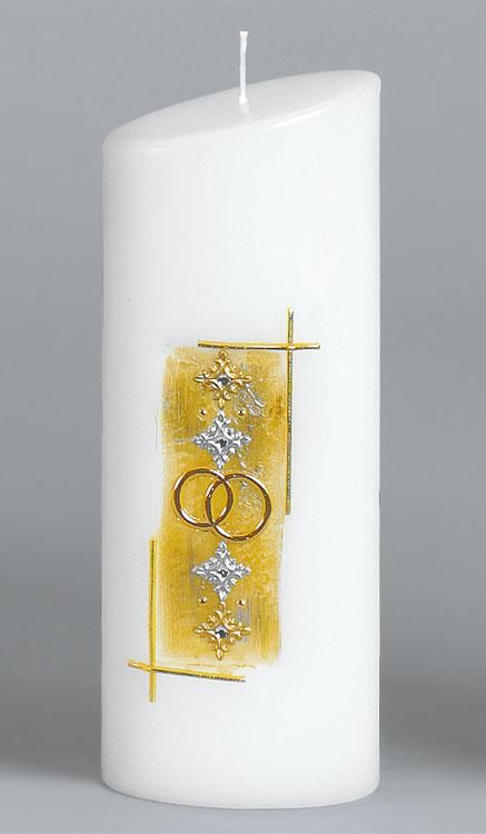 Goldene-Hochzeitskerze, 2525, Ovalkerze 230x90x60, ---Abverkauf---