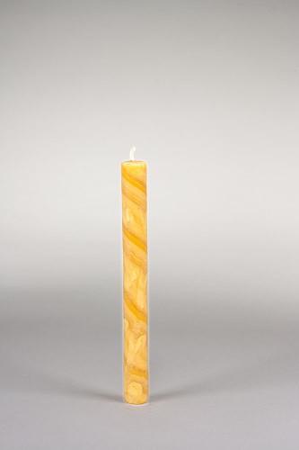 Stabkerze, 25 x 2,2 cm, 100% Bienenwachs, handgeknetet