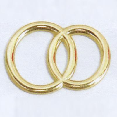 Wachsauflage, Eheringe, gold, R1G, ca. 32x22mm