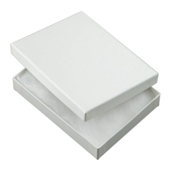 Geschenkkarton, weiß, mit weißer Watte, 1600, 12x9 cm
