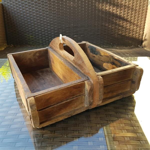 Antike Holzschublade Doppelfach