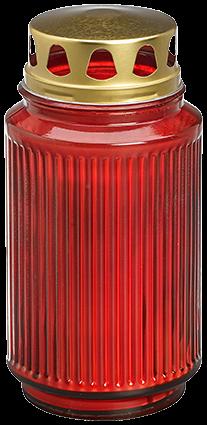Bolsius Grabglas, mit Deckel, ca. 100h, rot